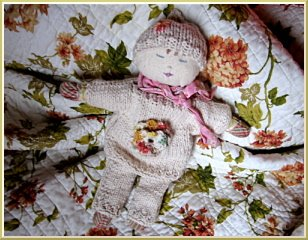 Cotton handmade baby doll
