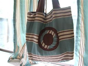 Curtain bag blue