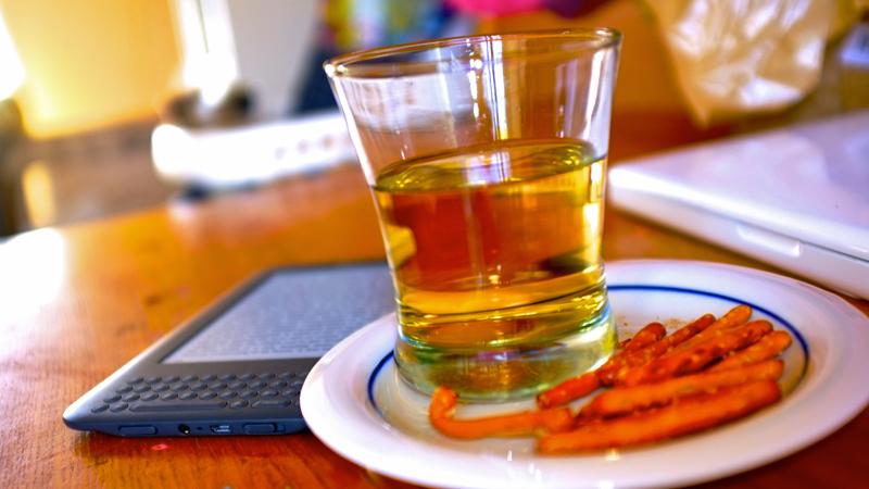ginger ale and pretzels