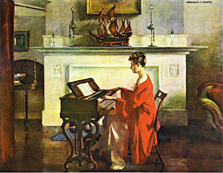 Marguerite S. Pearson at the melodian