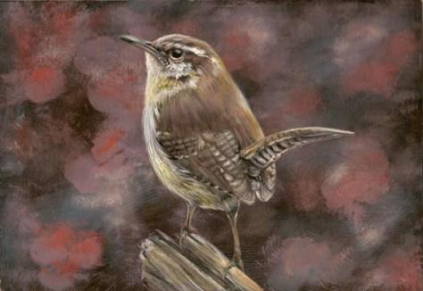 oiseau peinture gouache