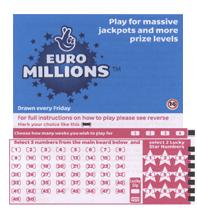 Euro Millions Ticket