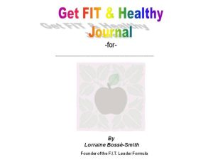 FIT Life Journal