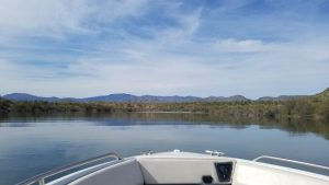 Springtime boating