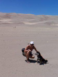 Kuma at Great Sand Dunes