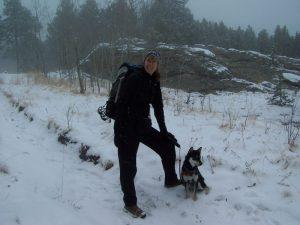 Kuma in snow