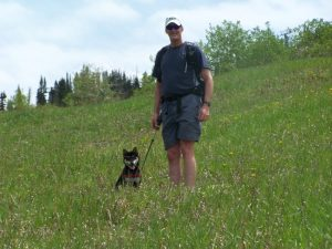 Hiking the top of Steamboat Springs ski area