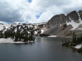 Glacier lakes abound at the Snowy Range in WY