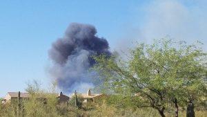 Scary smoke from neighborhood fire