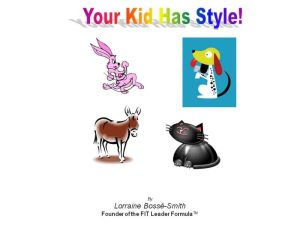 Your Kid Has Style booklet