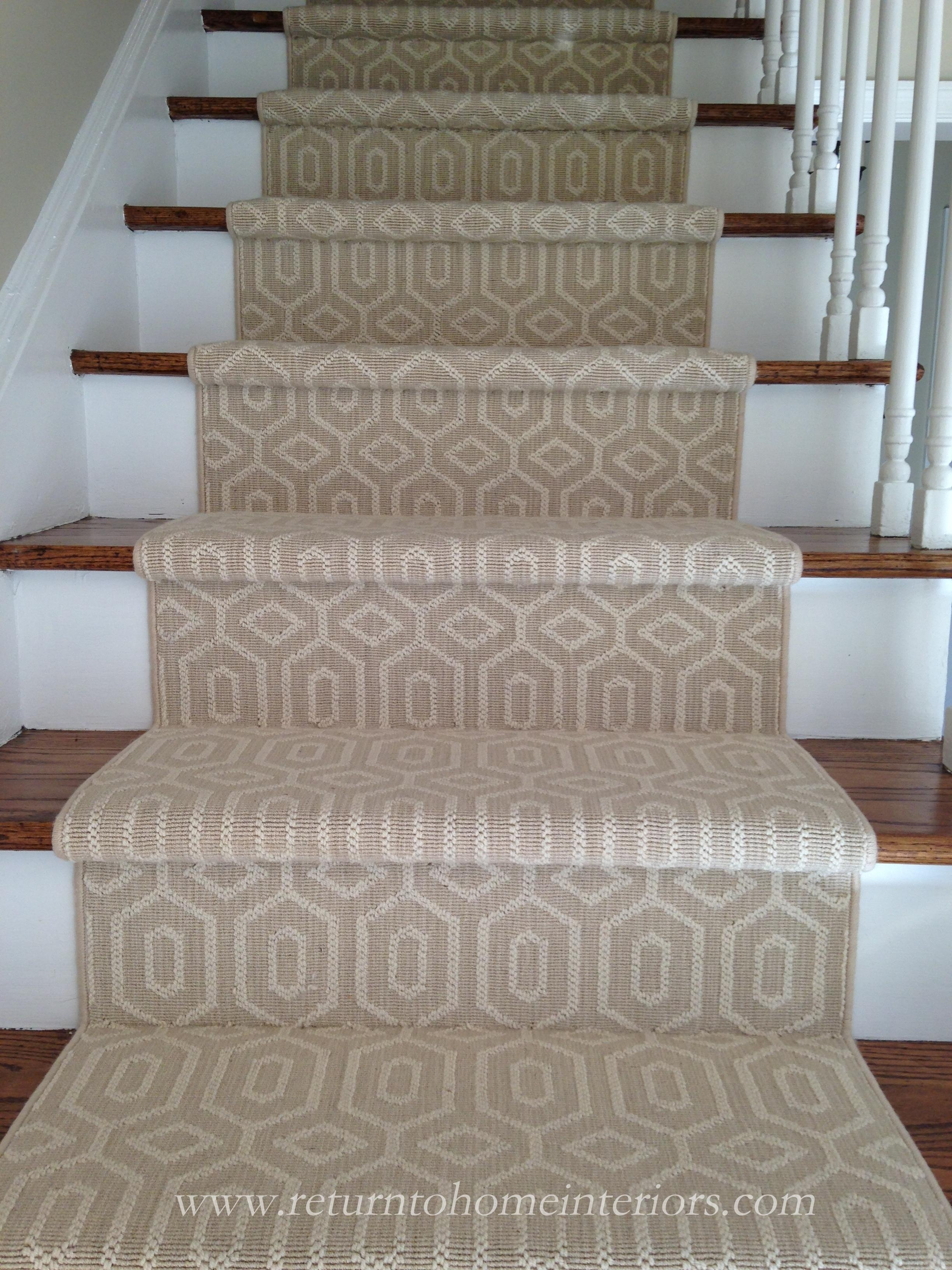 Choosing A Stair Runner Some Inspiration And Lessons Learned | Designer Carpet For Stairs | Stair Railing | Farmhouse | Classical Design | Style New York | Rectangular Cord Treads