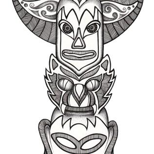 Totem - stippled