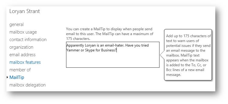 MailTips – Loryan Strant, Office 365 MVP