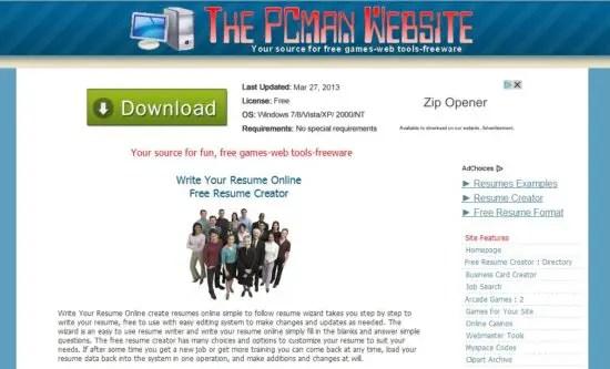Free Resume Creator Website