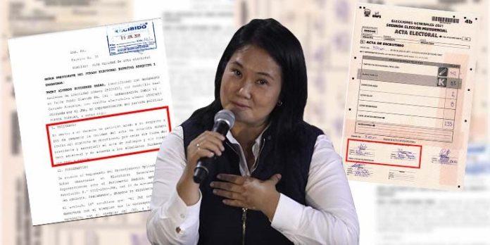 Las actas que Keiko Fujimori busca anular en tres distritos de la ODPE  Arequipa 1 – Los Andes