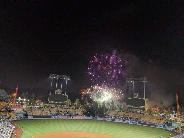 Fireworks at Dodger Stadium