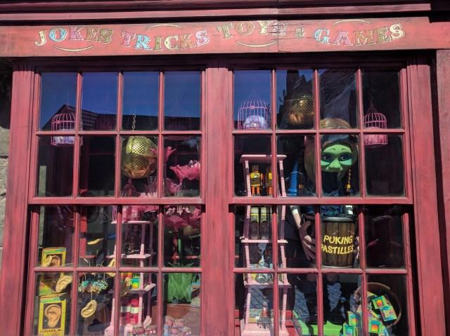 joke shop hp universal studios