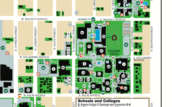 DeMille Hall is building 12 on the map