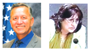 Hank Trimble (l) took $1,000 from recalled Hawaiian Gardens Councilwoman Kathy Navejas who has been seen in the City for the past few months.