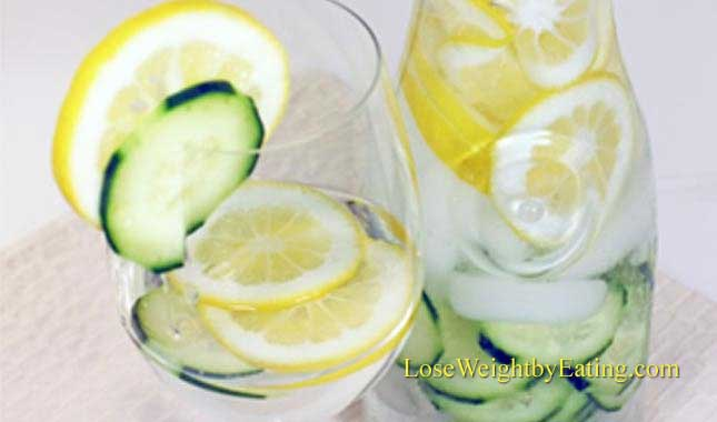 Cucumber Lemon Water