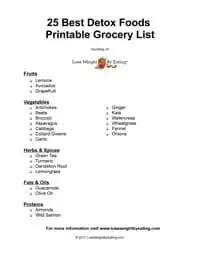Detox Foods Printable Grocery List
