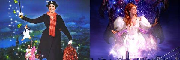 Julie Andrews en 'Mary Poppins' y Amy Adams en 'Encantada'