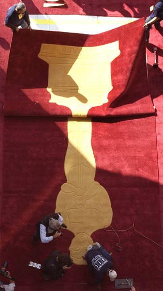La alfombra roja del teatro Kodak