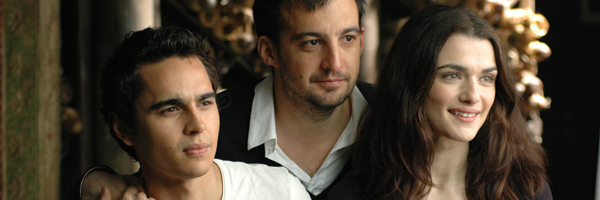 Max Minghella, Alejandro Amenábar y Rachel Weisz