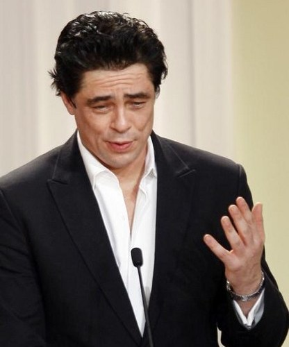 Benicio del Toro recoge su premio en Cannes