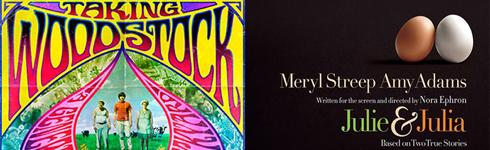 Carteles de 'Taking Woodstock' y 'Julia & Julia'