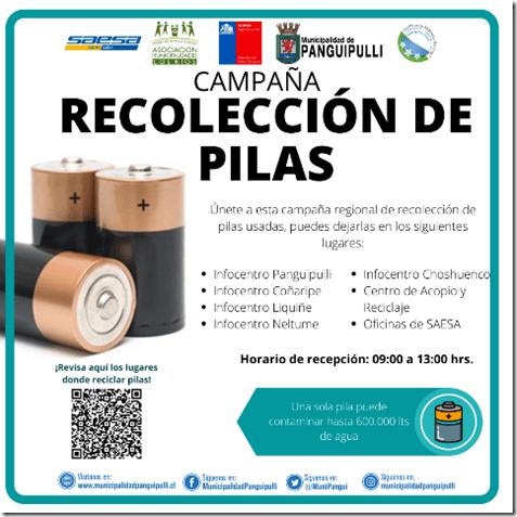 campaña regional de recolección de Pilas
