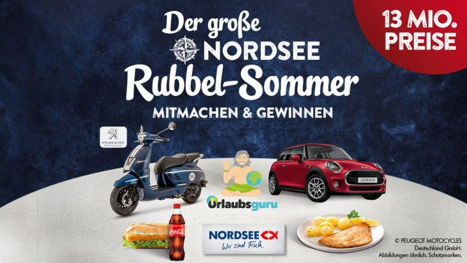Nordsee Rubbellose