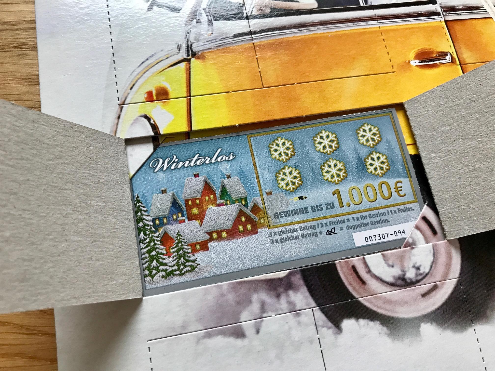 Gewinn Weihnachtskalender.Rubbellos Adventskalender Von Lotto Niedersachsen