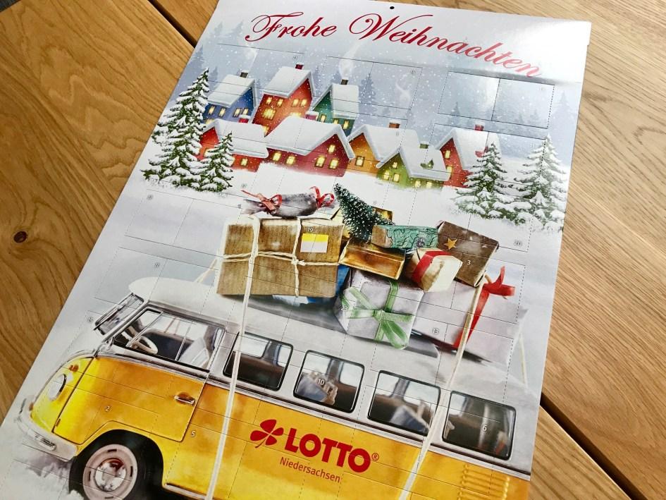 Seitenansicht Rubbellos-Adventskalender Lotto Niedersachsen