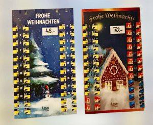 Adventskalender Lotto Bayern 48 Euro und 70 Euro