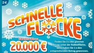 Schnelle Flocke Rubbellos Onlinegrafik von Lotto-bw.de