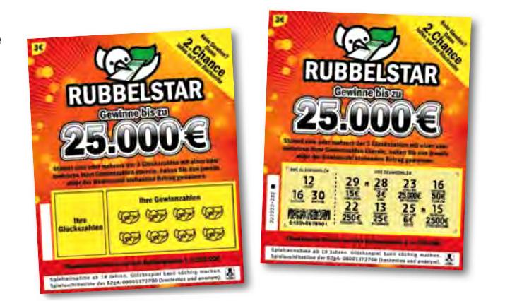 Rubbelstar Rubbellos von Lotto BW