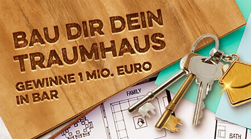 Bau dir dein Traumhaus - Gewinne 1 Mio Euro in Bar Logo