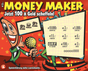 Money Maker Rubbellos Frontansicht