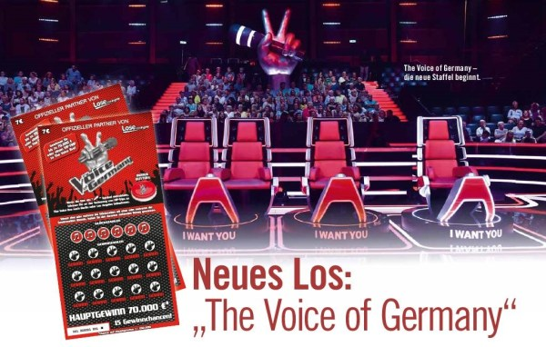 The Voice of Germany Rubbellos