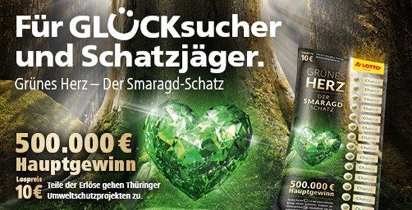 Grünes Herz Smaragdschatz Lotto Thüringen