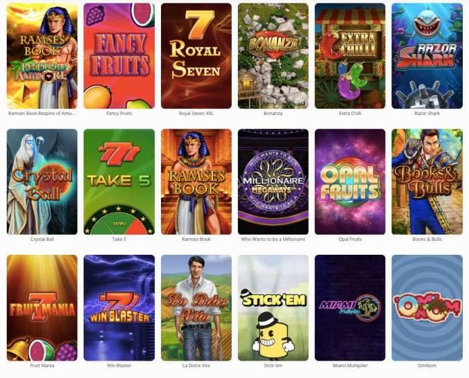 MegaLotto Slotgames (Auswahl)