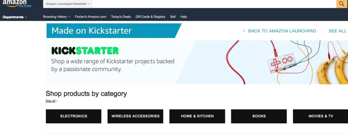 amazon kickstarter produkte auf launchpad