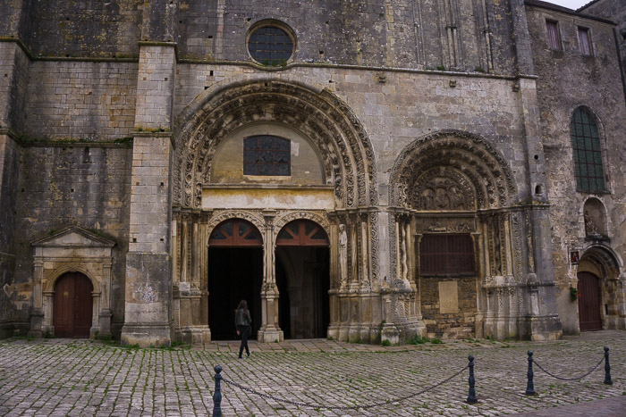 Girl outside old Church in Avallon France | Lost Not Found | French Road Trip