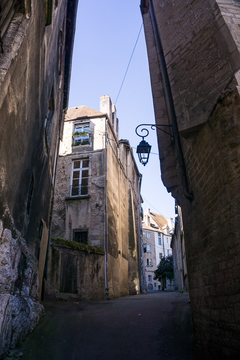 Street and old buildings in Dole France | Lost Not Found | French Road Trip