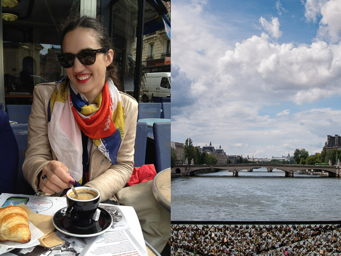 Dyptic of Candiss in Paris in 2012 and the lock bridge | LOST NOT FOUND | Reflections of 5 Years of Travel