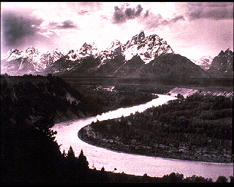 043 - Snake River and Grand Tetons, Ansel Adams