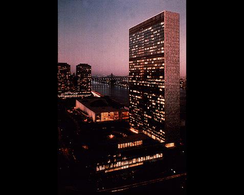 094 - UN Building Night, UN