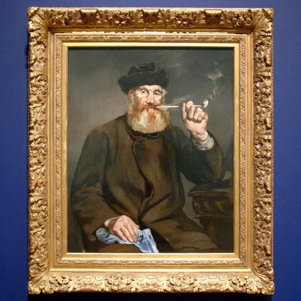 Edouard Manet - De Roker - Olieverf op doek, 1866