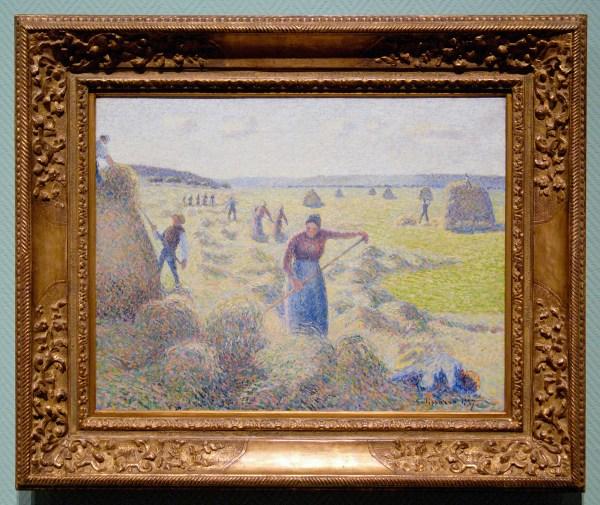 Camille Pissarro - Het hooien, Eragny - Olieverf op doek, 1887§